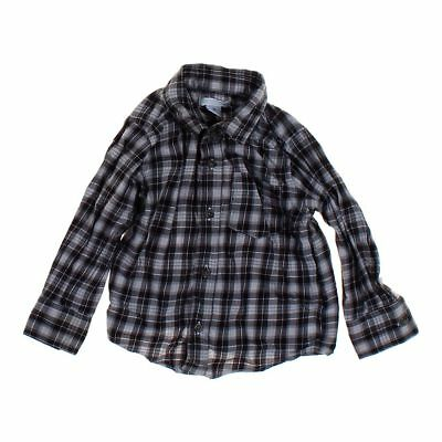 Old Navy Boys  Button-up Shirt, size 2/2T,  grey, blue/navy,  cotton