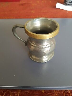 Georgian Pewter Half Gill Measure by Grashill and Chambers