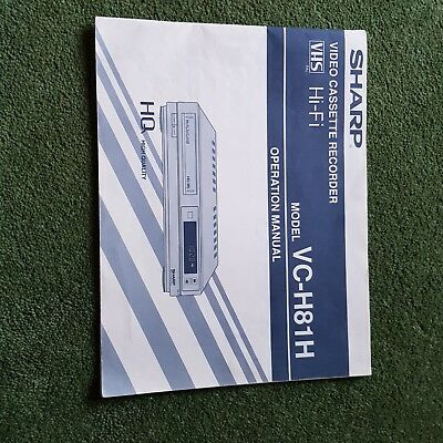 Sharp VHS Video Recorder VC-H81H Instruction Manual. Good Condition