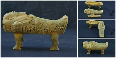VERY RARE Ancient Egyptian Ushabti Coffine with mummy Statue reproduction