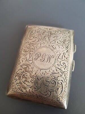 WW1 Hallmarked Silver Cigarette Case