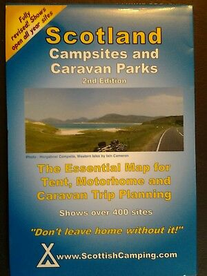 Scotland Campsites and Caravan Parks Folding  Map 2nd Edition