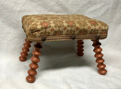 Antique American Late 19th Century Footstool Jenny Lind Spool Victorian Childs ?