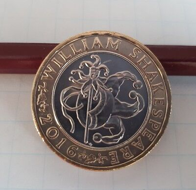 Collectible 2016 William Shakespeare Court Jester £2 Coin Two Pound RARE