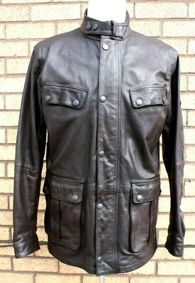 Barbour International Leather Motorcycle Jacket size XXL   Superb Condition