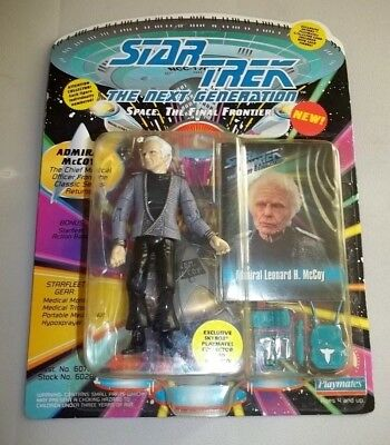 """UNPUNCHED STAR TREK TNG PLAYMATES 5"""" ADMIRAL MCCOY FIGURE - unpunched"""