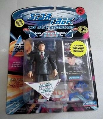 """Star Trek Tng Playmates 5"""" Captain Picard As Dixon Hill Figure - New In Package"""