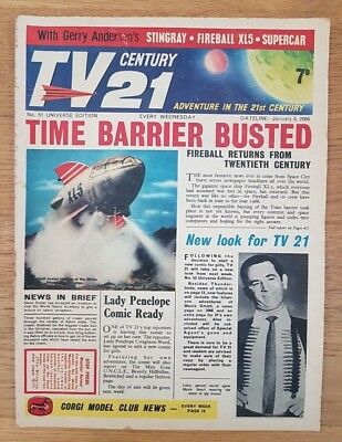 TV CENTURY 21 Issue 51  FIREBALL XL5, STINGRAY, THE DALEKS in G/VG