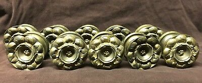 TEN Antique 19th CT Brass Sheraton Furniture Drawer Pulls Knobs Empire Federal