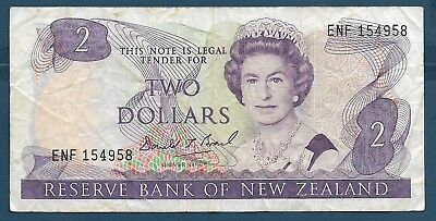 New Zealand 2 Dollars, 1989 / Brash, VF