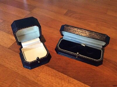 Pair Of Vintage Jewellery Box'S Antique Jewelry Case. Old Jewellers