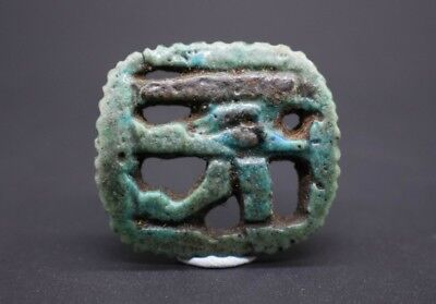 Ancient Egyptian Late period openwork faience Eye of Horus amulet 664 - 332 BC