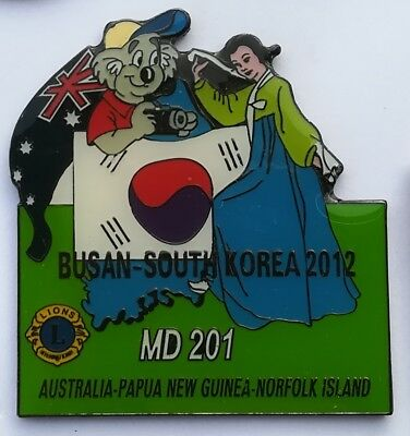 Superbe Pin's Lions Club Busan south Korea 2012 MD 201 Australia