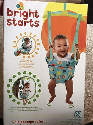 286722d75067 KALEIDOSCOPE SAFARI DOOR Jumper Baby Bouncer Swing Bright Stars ...