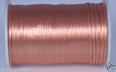 10yd Complexion 2MM Rattail Satin Cord Macrame Beading Nylon Chinese knot rope