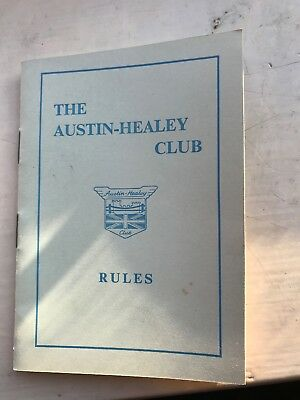 Austin Healey Club Rule Book