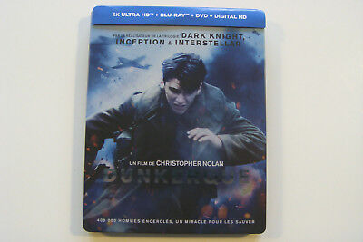 Coffret Dunkerque Christopher Nolan  4K ULTRA HD + BLU-RAY + DIGITAL HD - FR