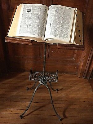 Antique   Dictionary Stand American Original Japanned Finish