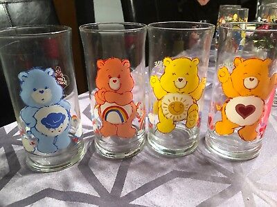Care bears Pizza Hut Collection Glasses