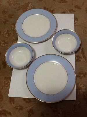Royal Doulton Bruce Oldfield For The Daily Mail Dinner Plates X2 Cereal Bowls X2