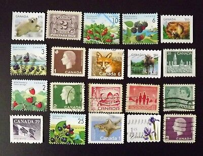 """Canada  """"B""""  Collection of 20 stamps. all used."""