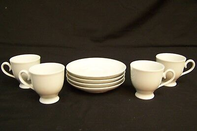 Set of 4 Bavarian SELTMANN WEIDEN Porcelain Demi-Tasse Expresso Cups and Saucers