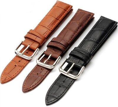 3 X WHOLESALE JOB LOT OF GENUINE LEATHER WATCH STRAP 20MM waltham bulova Elgin