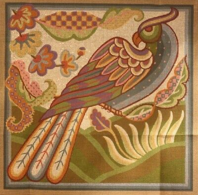 RARE EHRMAN needlepoint JANET HAIGH Tapestry CREWEL PARROT BIRD kit VINTAGE