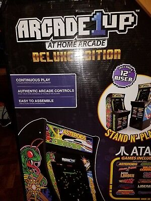 Arcade1Up - Deluxe Edition 12-in-1 Arcade Cabinet with Riser [Brand New]