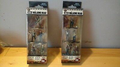 2 TWD The Walking Dead Jada Nano Metalfigs 5 Packs Daryl Rick Negan Michonne NEW