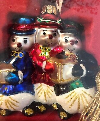 Marquis Waterford UNOPENED SNOWMAN FAMILY ORNAMENT RARE MINT New in Box NIB
