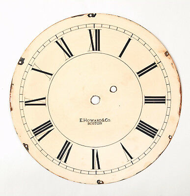 Howard No. 70 weight driven wall clock dial only @ 1890 Original Excellent