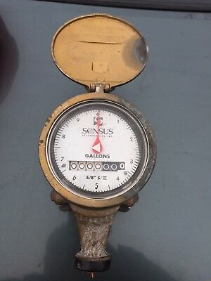 """Brass Water Meter New Includes Cover Steampunk Readable Face Sensus Srii 5/8"""""""