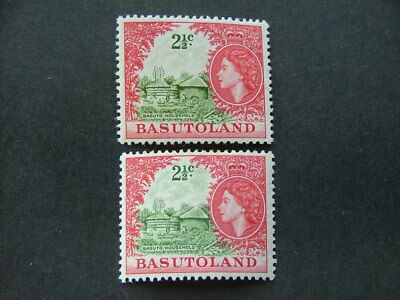 Basutoland QEII 1961/62 2½c values SG72 &72a MM