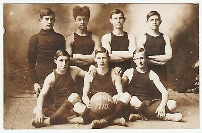 RARE Real Photo Postcard - Kodaks Basketball Team - Rochester NY? 1910 RPPC
