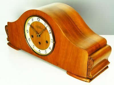 Pure Art Deco Westminster Chiming Mantel Clock From Rolls