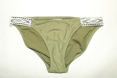 cd525ebea656c XHILARATION CROCHET STRING Bikini Bottoms Women M OLIVE Mint Green ...