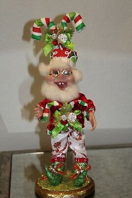 Mark Roberts Candy Cane Elf, Stand NOT included, Box included