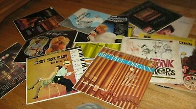 "Lot Of 15 Vintage 12"" Albums, Honky Tonk, 101 Strings, Gabriella Ferri, George S"