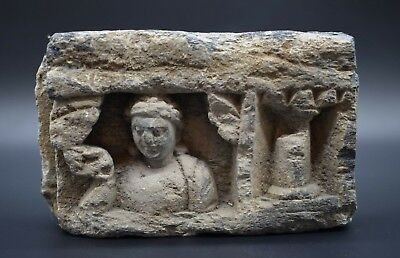 Impressive ancient Gandharan stone temple cornice section 2nd - 1st mil BC