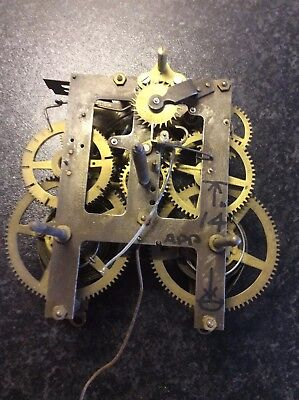 Antique American clock movement