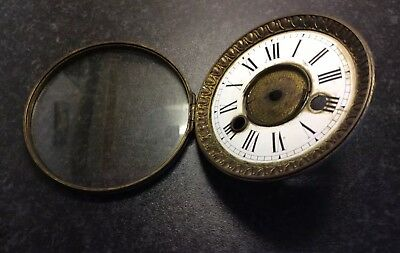 Antique Mantel Clock Dial And Bezel with Glass