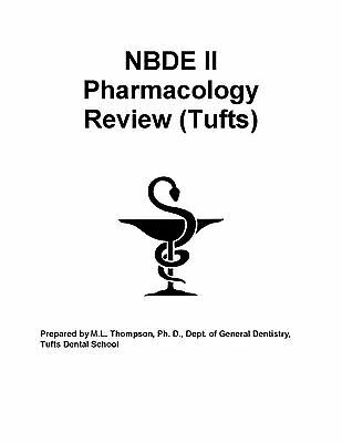 NBDE 2 Tufts Pharmacology Review