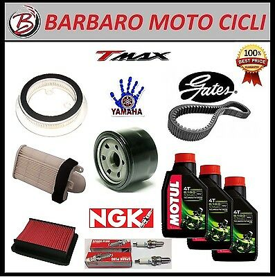 Replacement Kit Yamaha T Max Tmax 500 08-11 T-Max Oil+Spark Plugs+Filters+Belt