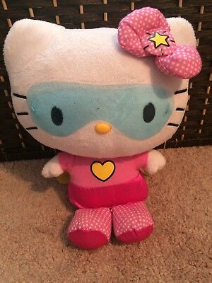 "Hello Kitty 2012 Sanrio Plush Doll White Cat Stuffed 12"" Super Hero"