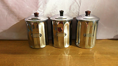 Boites A Epices Vintage Chromee Annees 50 / 60 Kitch Retro