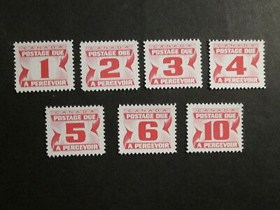 Canada 1967 Postage Dues Mint Lightly Hinged