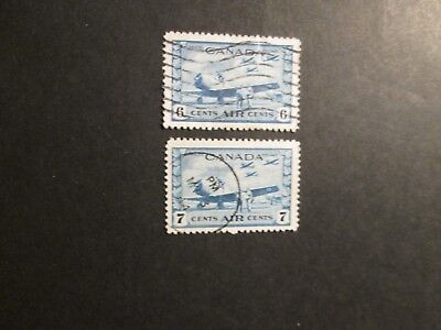 Canada 1942 War Effort Air-mail stamps Fine used.