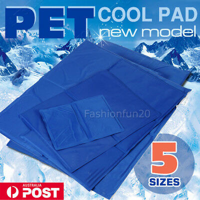 FAST POST Pet Cool Gel Mat Dog Cat Bed Non-Toxic Cooling Dog Summer Pad 5 Sizes