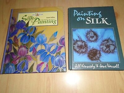 2 Silk Painting Books - Painting In Silk & Silk Painting (Hardbacks)